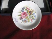Pair Royal Worcester Decorated Plates Weymouth