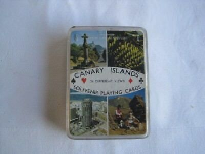 Vintage Boxed Pack of Canary Islands Playing Cards FOURNIER Spain