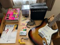 Electric Guitar + Amplifier + lots of extras