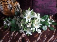 lovely artificial coffin top flowers