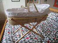 Kiddicare Moses basket and stand