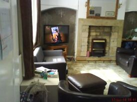 Mid terraced Town House two bedrooms, garage, parking, converted cellar, large lounge, central