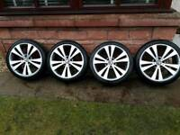 18 inch genuine Audi vw alloy wheels pcd 5x112