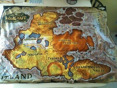 Blizzard EMPLOYEE 2006 Burning Crusade picnic blanket RARE New Buy Now Warcraft!