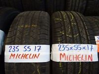 MATCHING SET 235 55 17 MICHELIN LATITUDES TREAD AS NEW £140 SET SUP & FITD(loads more av TXT SIZE TO