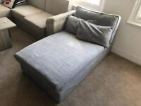 Ikea KIVIK chaise longue grey