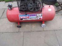Sealey SAC1203B 200lt Air Compressor 3hp 13.4 CFM