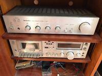 Technics Amplifier SU8011 & Tape Player M63