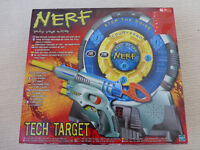 Bundle of games and hobby sets includes, nerf, total football, spy gear, Tat2 kit