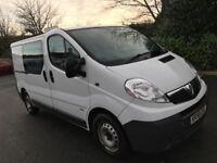 Vauxhall Vivaro Crew cab 2.0CDTI, 6 seater, 2009, only 111000 miles