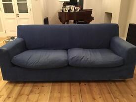1x Habitat sofa 1x Ikea Klippan sofa