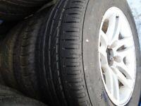 Suzuki Vitara Alloys 16 inch x2 sets 235 60 x 16 100h Tyres x 5