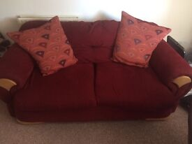 Reduced: Red Two Seater Sofa