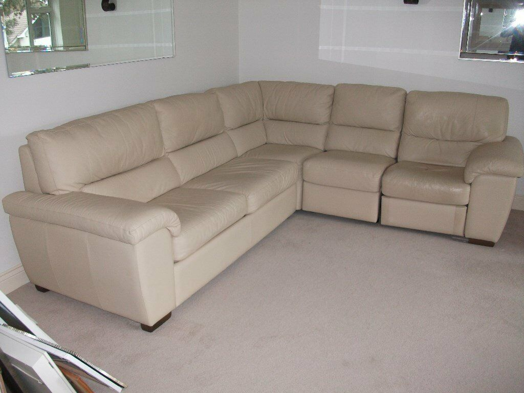 Immaculate corner unit/sofa bed and one armchair Very high end ...
