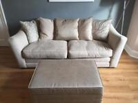 Fawn and Gold Sofa with Futon