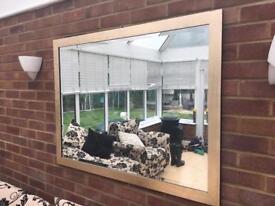 Large Mirror 1.11m x 85.7cm Gold Frame