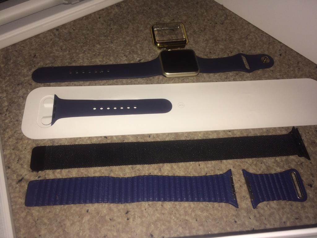 APPLE WATCH 42mm GOLD & BLUE BOXED SWAP IPHONE 6 OR CASH