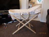 kiddicare moses basket with stand and matress