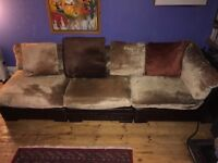 Sofa for lounging seats 4