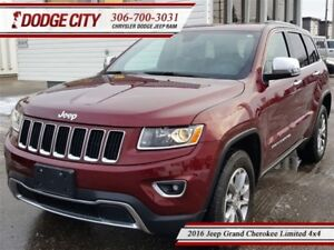 2016 Jeep Grand Cherokee Limited | 4x4 - Sunroof, Uconnect, Leat