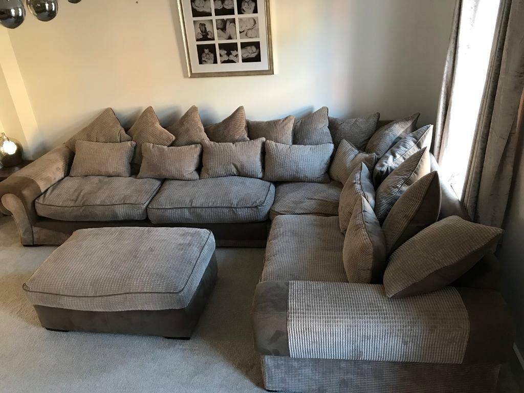 Large Brown Corner Sofa Perfect Condition From Sofology