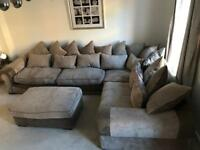 Large brown Corner Sofa! Perfect Condition! From Sofology
