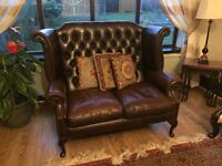 Real Leather Chesterfield-style Sofas