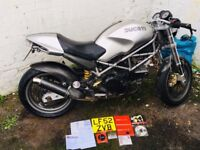 2002 Ducati Monster M 620S Awesome Cafe Racer Styling SORN no MOT