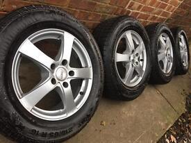 "As New 16"" Vauxhall Vivaro alloy wheels +Continental winter tyres"