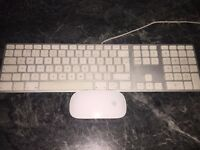 APPLE KEYBOARD AND MAGIC MOUSE - USED (MINT CONDITION)