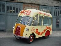Ice cream van 1954 Morris J Classic Vintage Very Rare Catering