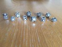 Pandora Silver Charms Set of 10
