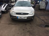 2002 Ford Mondeo zetec 5 dr estate petrol 1.8l silver BREAKING FOR SPARES