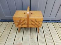 Vintage Wooden Sewing Box made in Poland