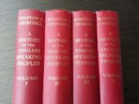 Winston Churchill - A History of the english Speaking Peoples - Complete Set