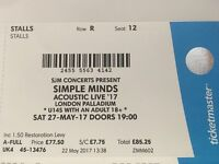 4 x Simple Minds Acoustic Live '17' concert tickets
