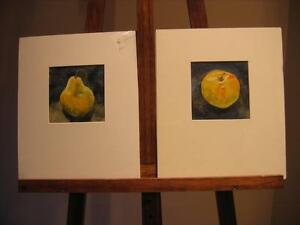 MONICA DIDUR PAIR OF ORIGINAL WATERCOLOUR FRUIT