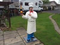 Life Size Chef, Baker, Butcher Figure 6ft 5inches Tall