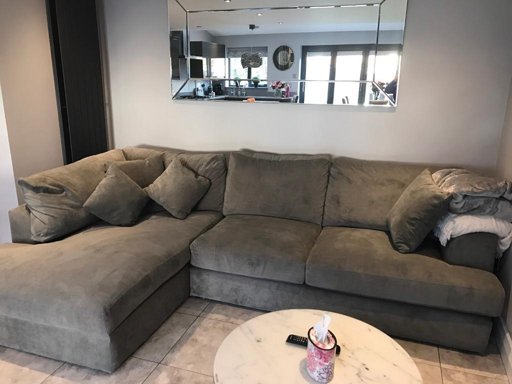French Grey Left Hand Chaise Sofa From Next In Liverpool