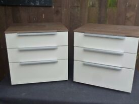 Ex Display High Gloss Bedside Drawers Table Delivery Available