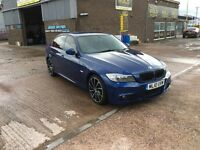 2010 BMW 320D M-SPORT BUSINESS EDITION SAT NAV,FULL BLACK LEATHER INTERIOR, 46000 MILES WARRANTED,