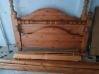 Soild oak double bed