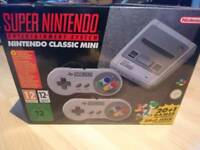 Super Nintendo mini snes with adapter