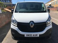 NEW SHAPE RENAULT TRAFIC LWB BUISINESS PLUS VAN 1.6DCI 2015/15REG 70K £8999 NO VAT