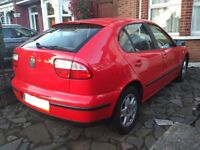 SEAT LEON S 1.6 16V. 2001. Full service + MOT passed MAY 2017. Excellent condition.
