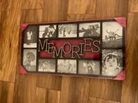 Brand New Memories 10 piece black photo frame