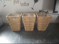 3X wicker plant pots as seen in pics - 8inchs/20cm collect or deliver Stonehaven