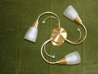 Pair of Antique Brass ceiling lights