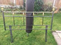 Metal Double Bed Head Rail