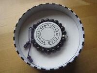 Purple Amethyst Thomas Sabo Charm Club adjustable bracelet with box.